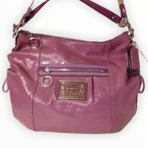 👛 COACH 👛 poppy jazzy purple patent leather bag